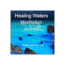 """Healing Waters Meditation J Square Sticker 3"""" x 3"""""""