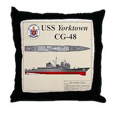 TicoCg-48_Yorktown_Tshirt_Back Throw Pillow