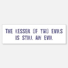 Evil: Bumper Car Car Sticker