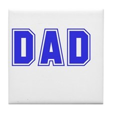 Best Dad Ever White Tile Coaster