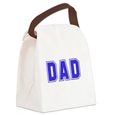 Best Dad Ever White Canvas Lunch Bag