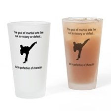 Martial Arts Character Black Drinking Glass