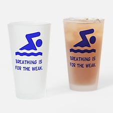Breathing Weak Blue Drinking Glass
