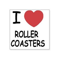 "ROLLER_COASTERS Square Sticker 3"" x 3"""