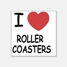 "ROLLER_COASTERS Square Sticker 3"" x 3"""