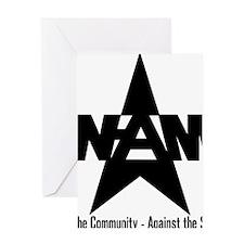 nam community state black Greeting Card