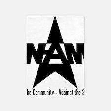 nam community state black 5'x7'Area Rug