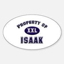 Property of isaak Oval Decal