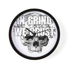 IN-GRIND-WE-CRUST2 Wall Clock
