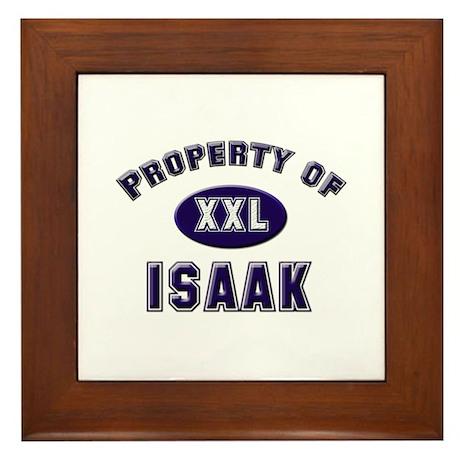 Property of isaak Framed Tile