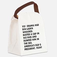 OBAMA WHACKED BIN LADEN1212 Canvas Lunch Bag