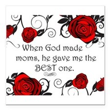 "Best mom Square Car Magnet 3"" x 3"""
