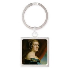 Victorian Beauty Square Keychain