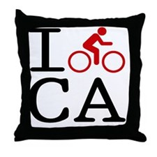 Bike-CA Throw Pillow