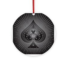 Spades-Symbol-002.png Ornament (Round)