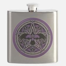 Purple Crow Pentacle Flask