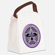 Purple Crow Pentacle Canvas Lunch Bag