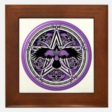 Purple Crow Pentacle Framed Tile