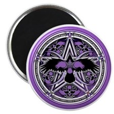 Purple Crow Pentacle Magnet