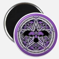 Purple Crow Pentacle Magnet