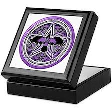 Purple Crow Pentacle Keepsake Box