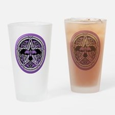 Purple Crow Pentacle Drinking Glass