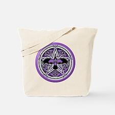 Purple Crow Pentacle Tote Bag