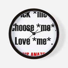 PICKMECHOOSEMEBLACK2 Wall Clock