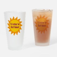 ButtNaked copy Drinking Glass
