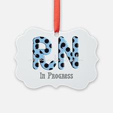 RN In progress blue Ornament