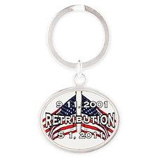 retribution Oval Keychain