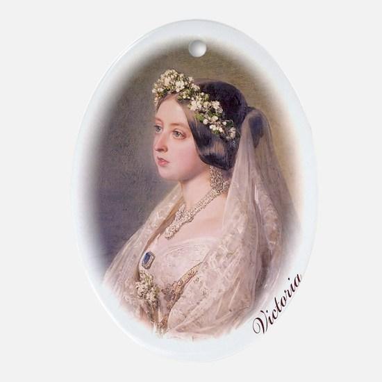 Queen Victoria Oval Ornament
