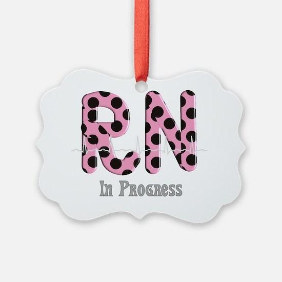 RN In Progress pink Ornament