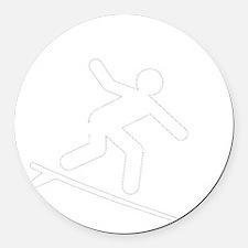 Surf Sunscreen White Round Car Magnet