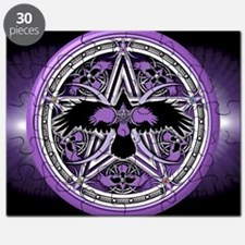 Purple Crow Pentacle Banner Puzzle