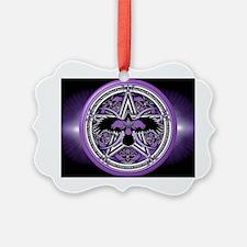 Purple Crow Pentacle Banner Ornament