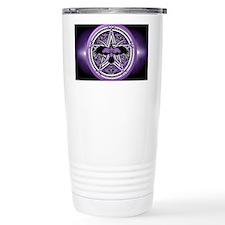 Purple Crow Pentacle Banner Travel Mug