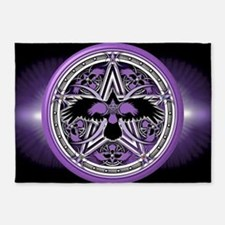 Purple Crow Pentacle Banner 5'x7'Area Rug