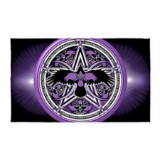 Purple Crow Pentacle Banner 3'x5' Area Rug