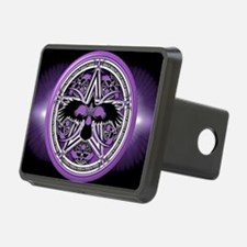 Purple Crow Pentacle Banne Hitch Cover