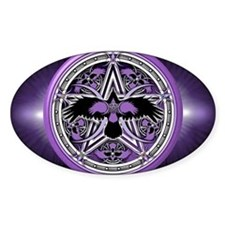 Purple Crow Pentacle Banner Decal