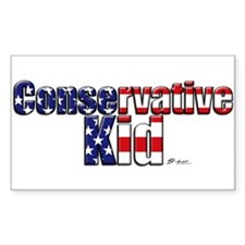 Conservative Kid Rectangle Decal