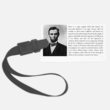 lincoln quote2 Luggage Tag