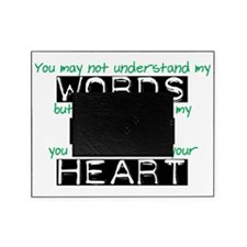 Words Eyes Heart black Picture Frame