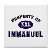 Property of immanuel Tile Coaster