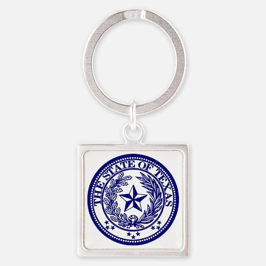 TexasBlue Square Keychain