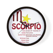 scorpiodetail Wall Clock