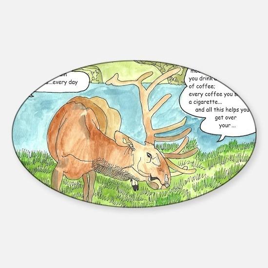 Okay, let me wrap my brain cr. Sticker (Oval)