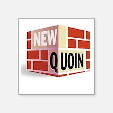 "NewQuoinLargeBricks Square Sticker 3"" x 3"""