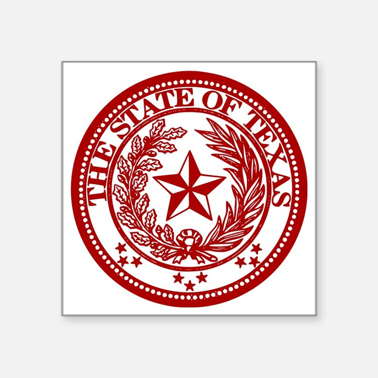 "TexasRed Square Sticker 3"" x 3"""